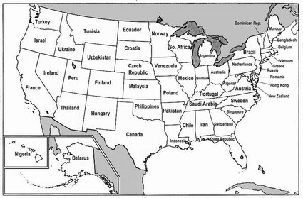 Map us states renamed for countries with similar gdps blake snow in case youve forgotten the us economy is ginormous strange maps tells why freerunsca Image collections