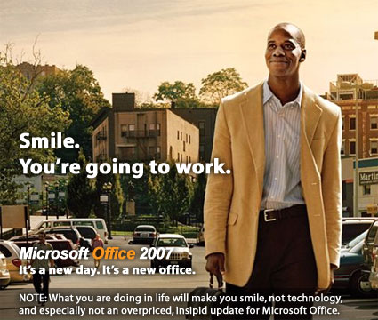 Ads for Microsoft Office 2007 are futile - Blake Snow