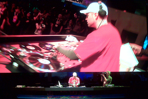 DJ Shadow performing live at E3 2009 (Activision's booth)