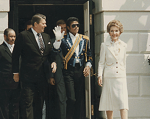 Michael Jackson with President Reagan and First Lady in 1984