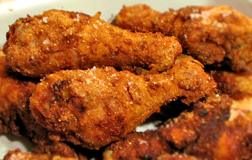 fried chicken - The worst foods to eat while playing video games