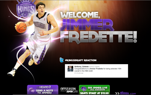 jimmer fredette kings.com homepage