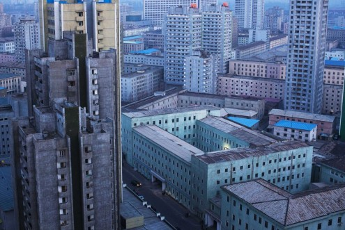 Central Pyongyang at dusk