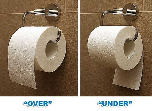 over under toilet paper