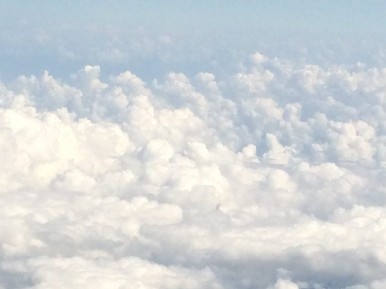Clouds from my plane window somewhere over Nicaragua (courtesy Blake Snow)